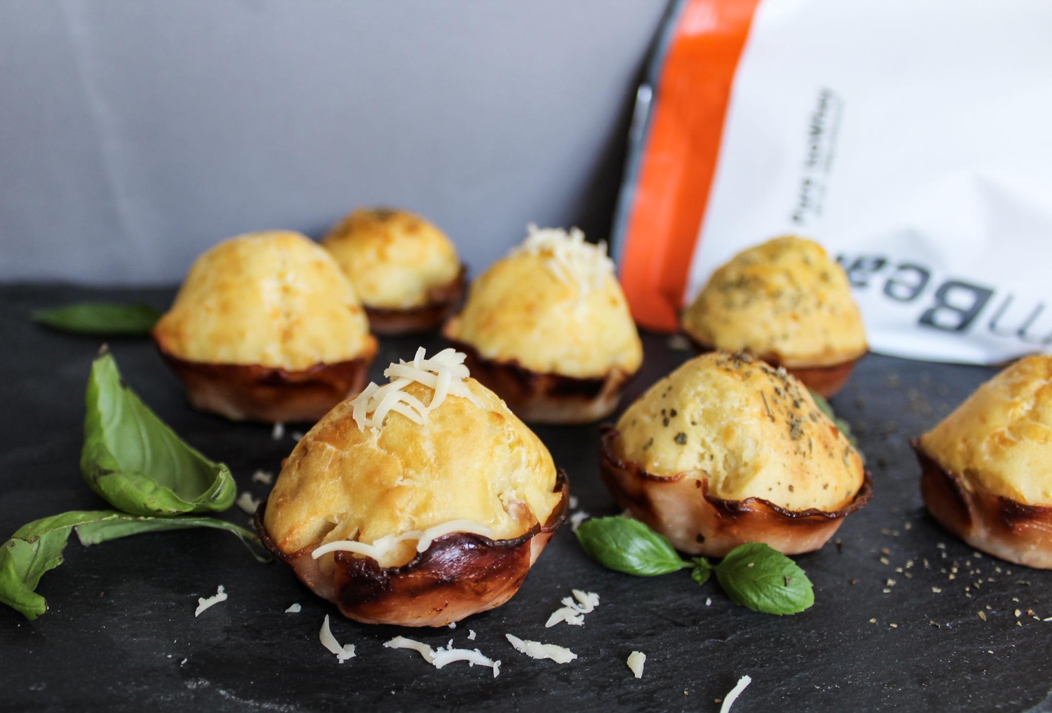slané proteínové muffiny - fitness recept s proteínom