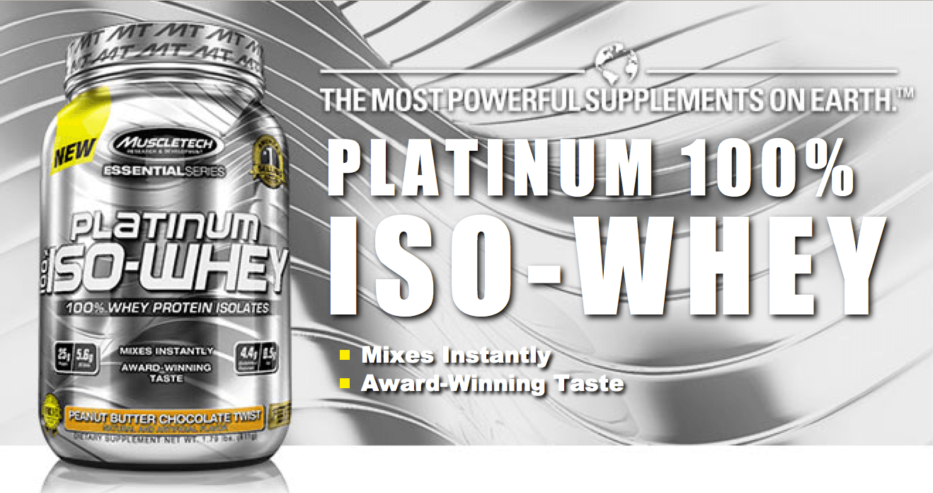 Platinum 100% ISO-Whey - MuscleTech
