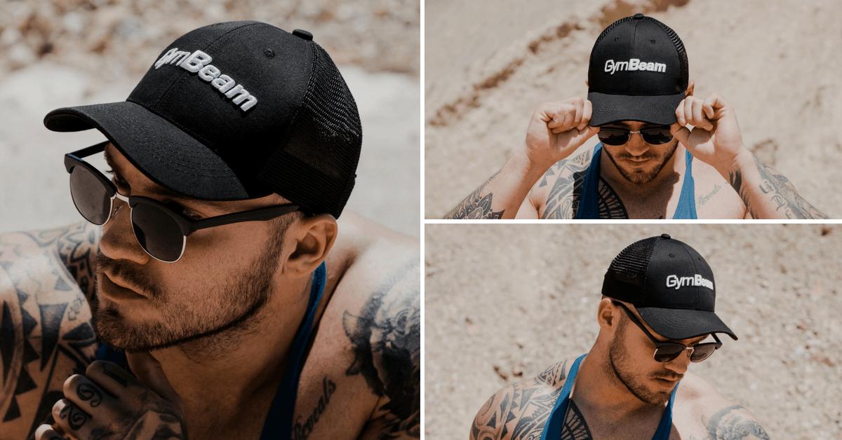 Kšiltovka Mesh Panel Cap Black - GymBeam