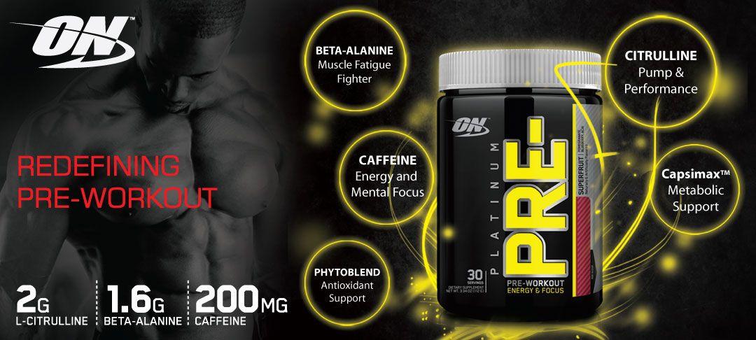 Platinum PRE - predtréningový stimulant