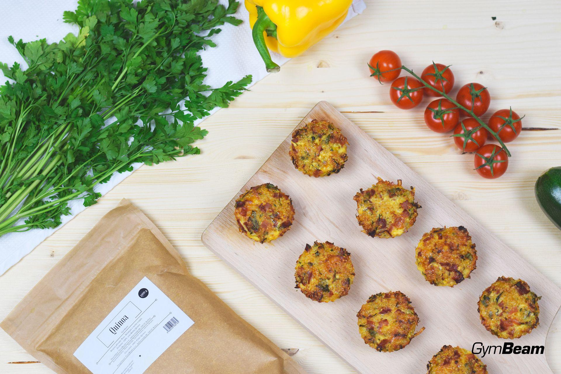 quinoa fitness recept - muffiny