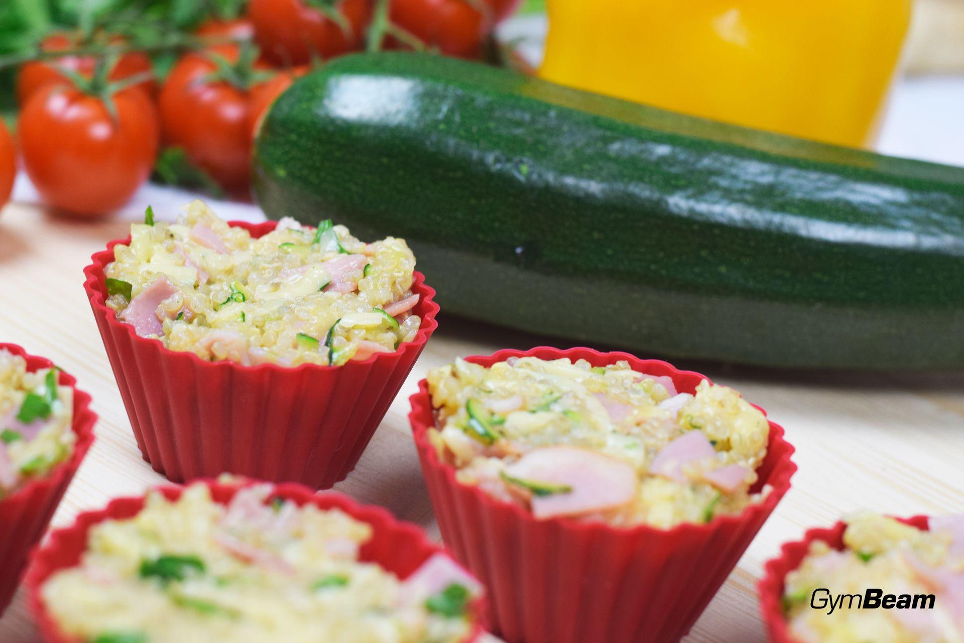 fitness recept - quinoa muffiny na raňajky