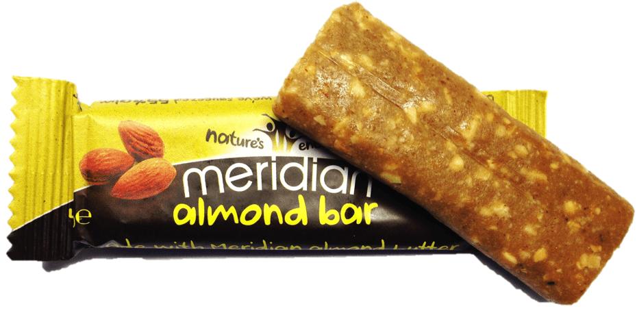almond bar - tyčinka z mandľového masla meridian
