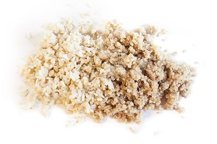 quinoa a ryža sacharidy ako vyzera 50g sacharidov