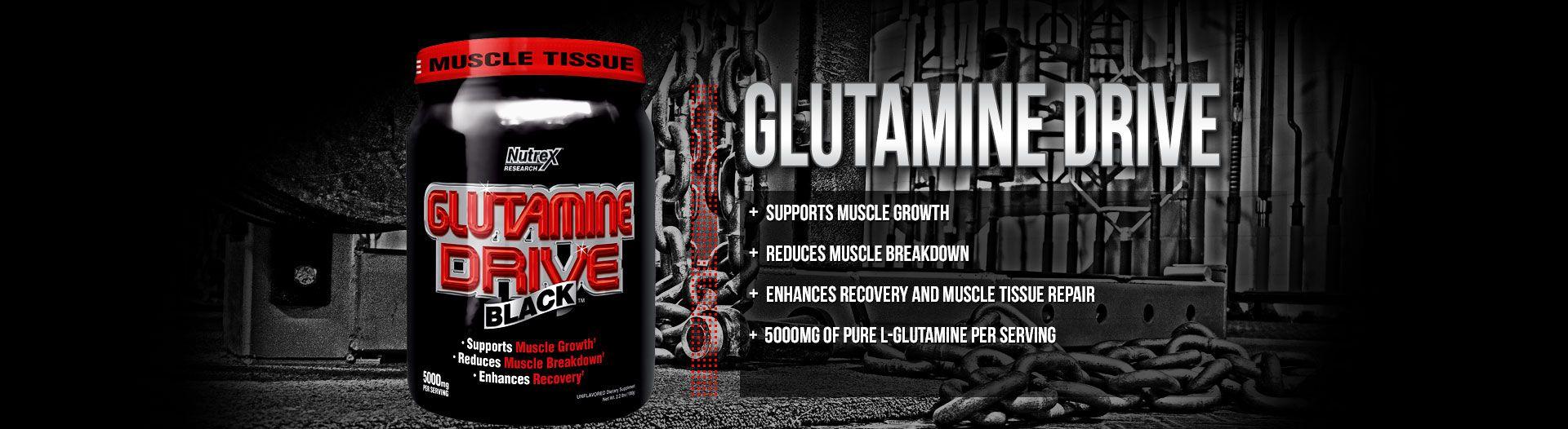 glutamine drive black glutamín