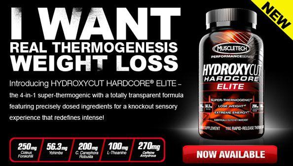 Spaľovač tukov Hydroxycut Hardcore Elite