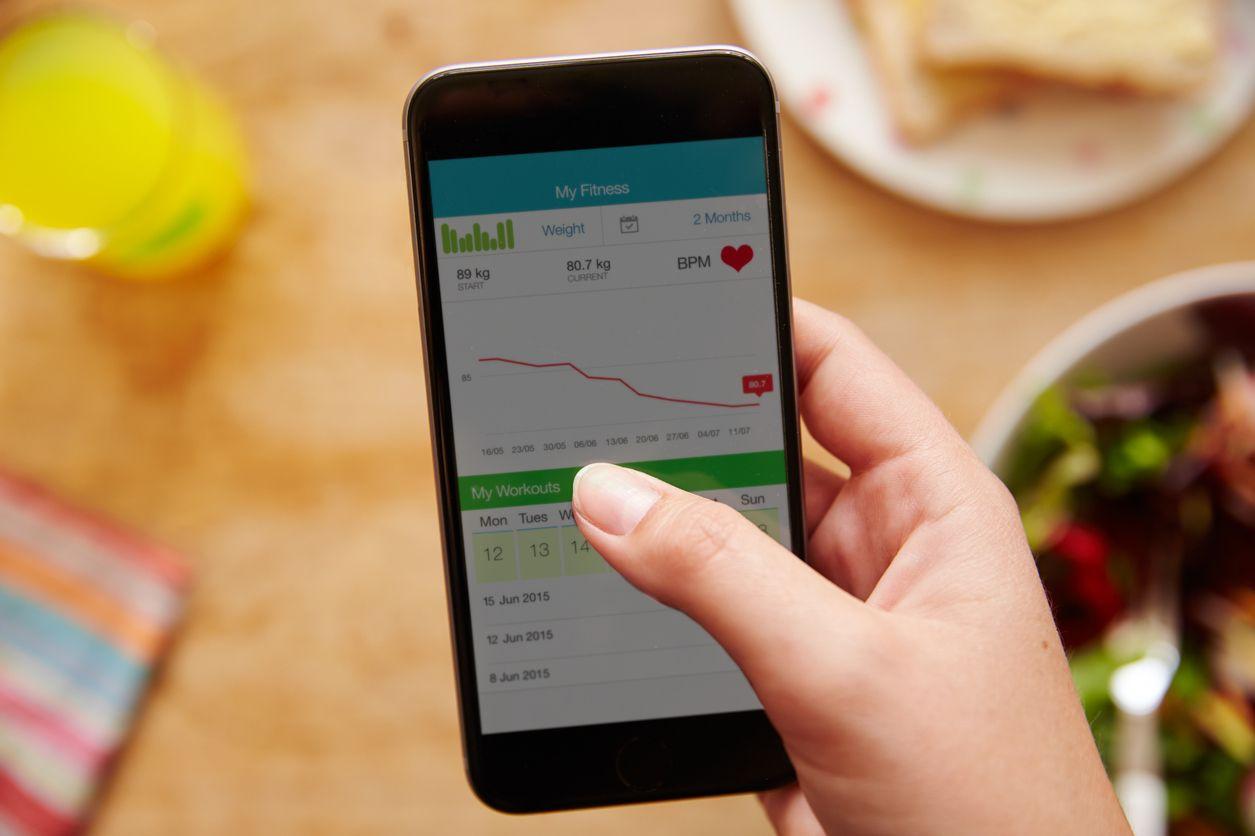 Fitness aplikácia na trackovanie jedál - chudnutie