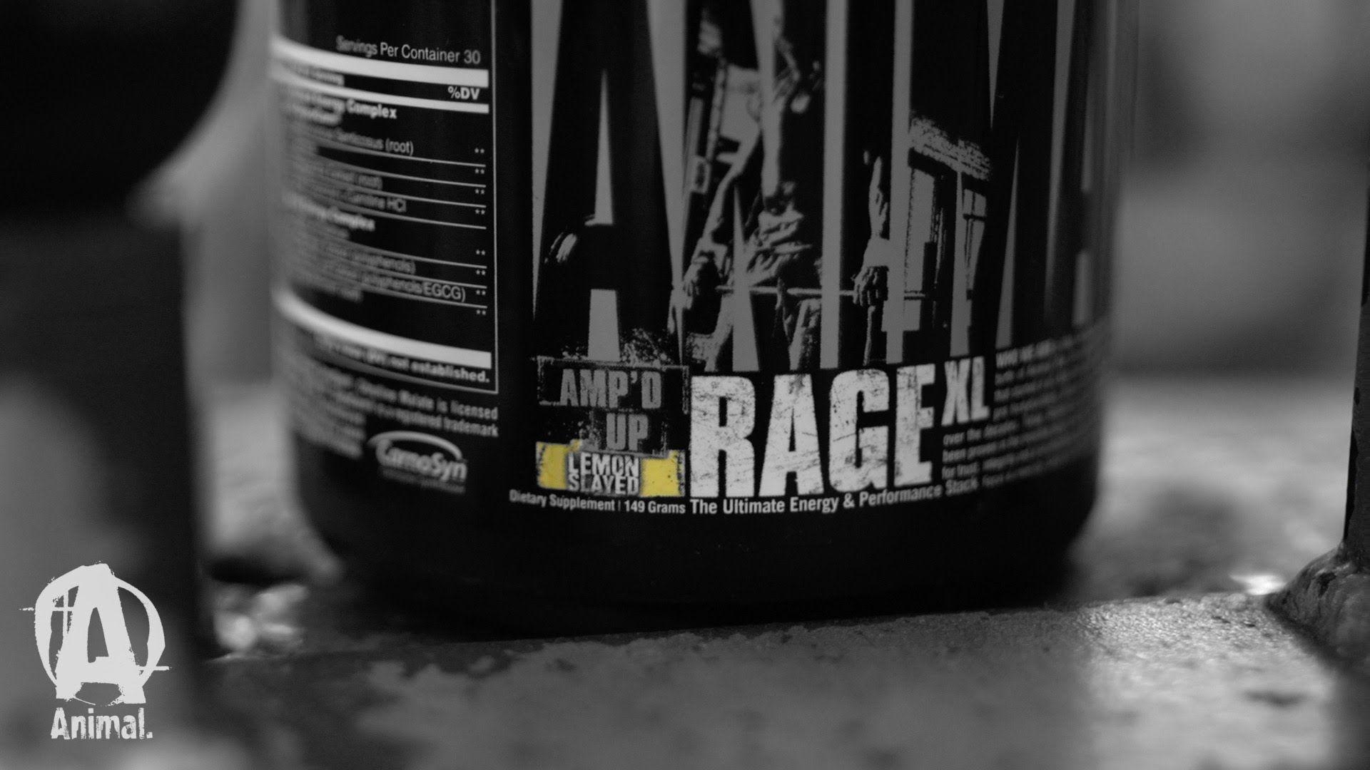 Animal Rage XL predtréningový stimulant
