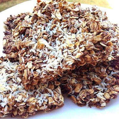 Kokosové proteínové tyčinky recept