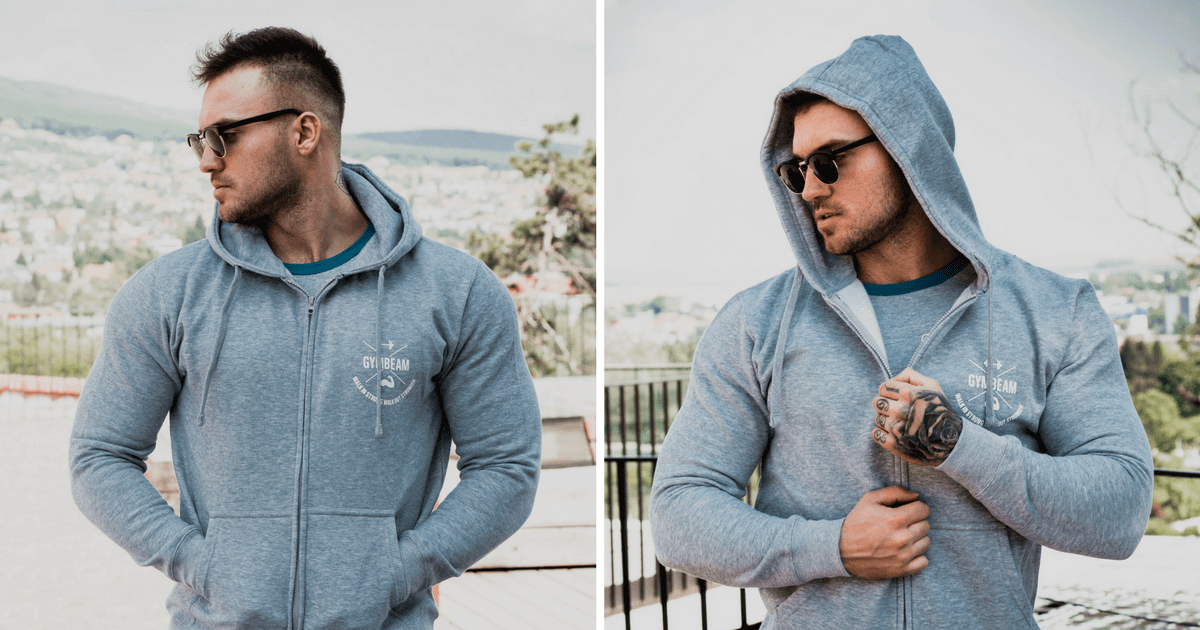 Mikina Zipper X Gray GymBeam