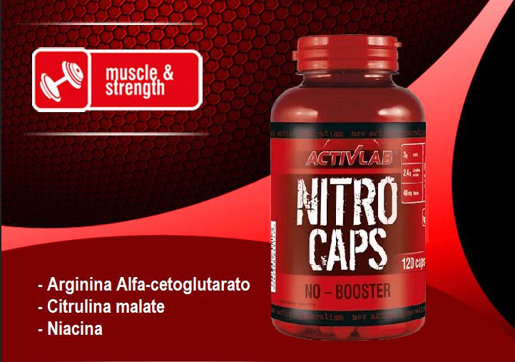 Nitro Caps: predtréningový stimulant v kapsuliach