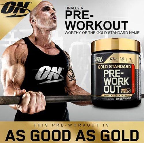 Predtréningový stimulant Gold Standard Pre-work Out