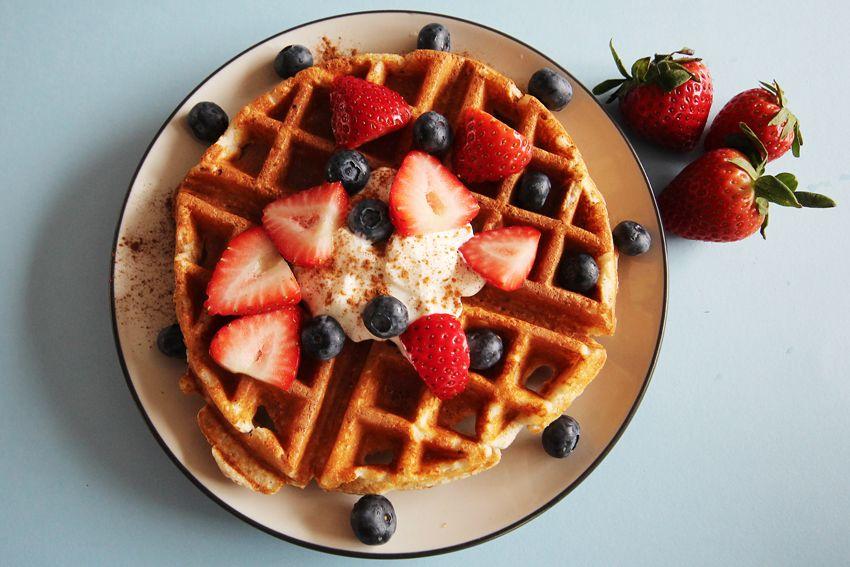 recept na výživné proteínové wafle