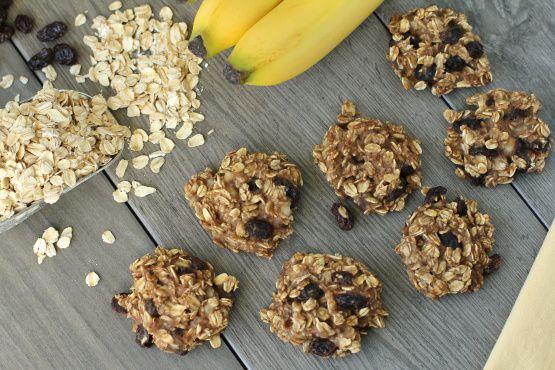 Banánové ovsené cookies len z troch ingrediencií recept