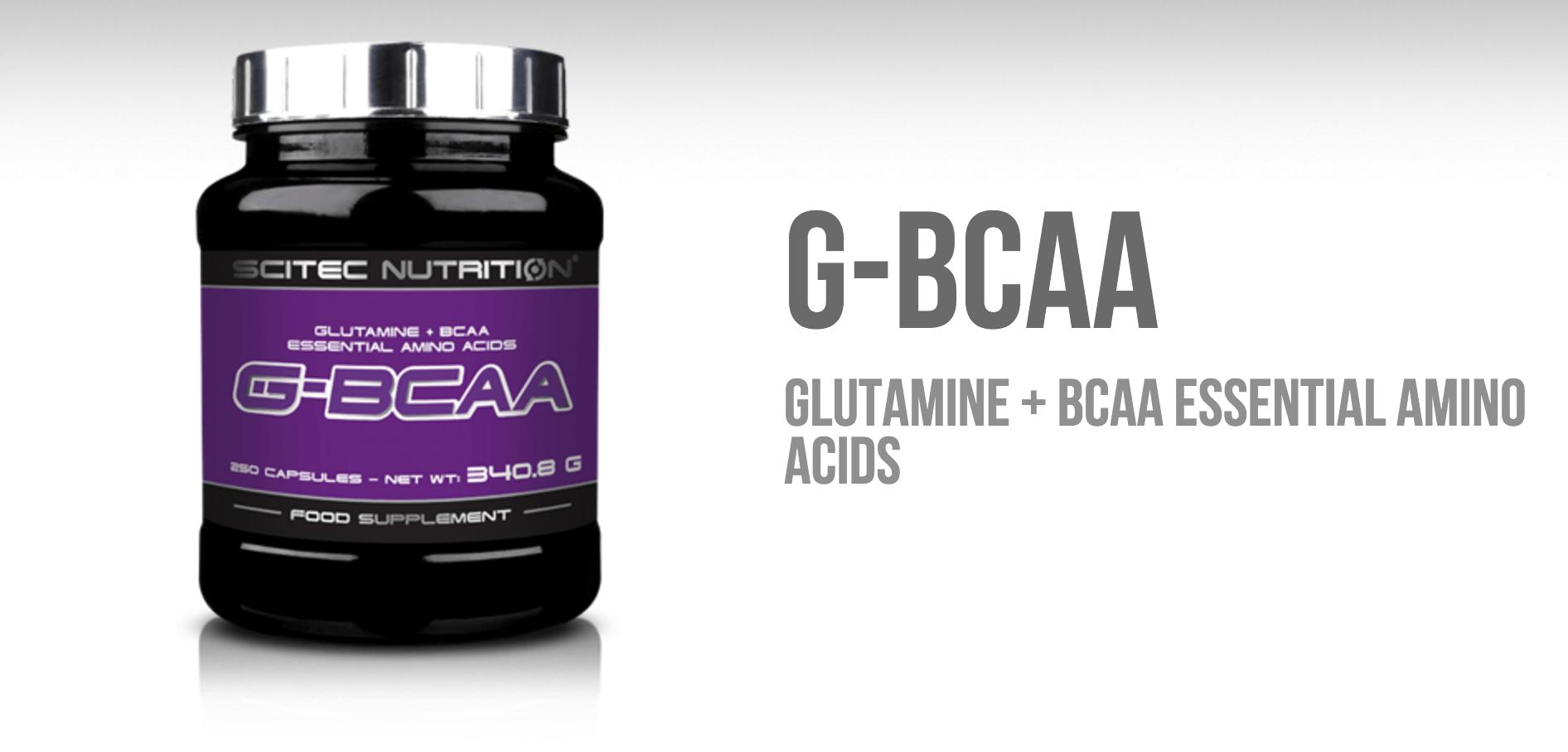 G-BCAA scitec glutamín BCAA