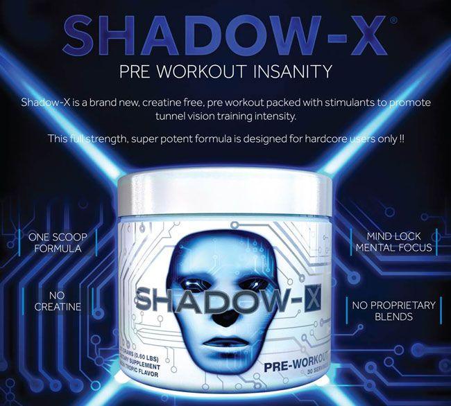 Shadow-X predtréningový stimulant
