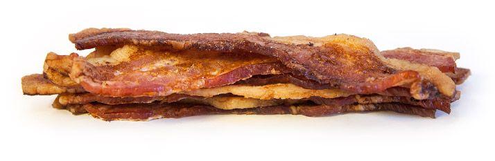 ako vyzerá 30 g bielkovin slanina