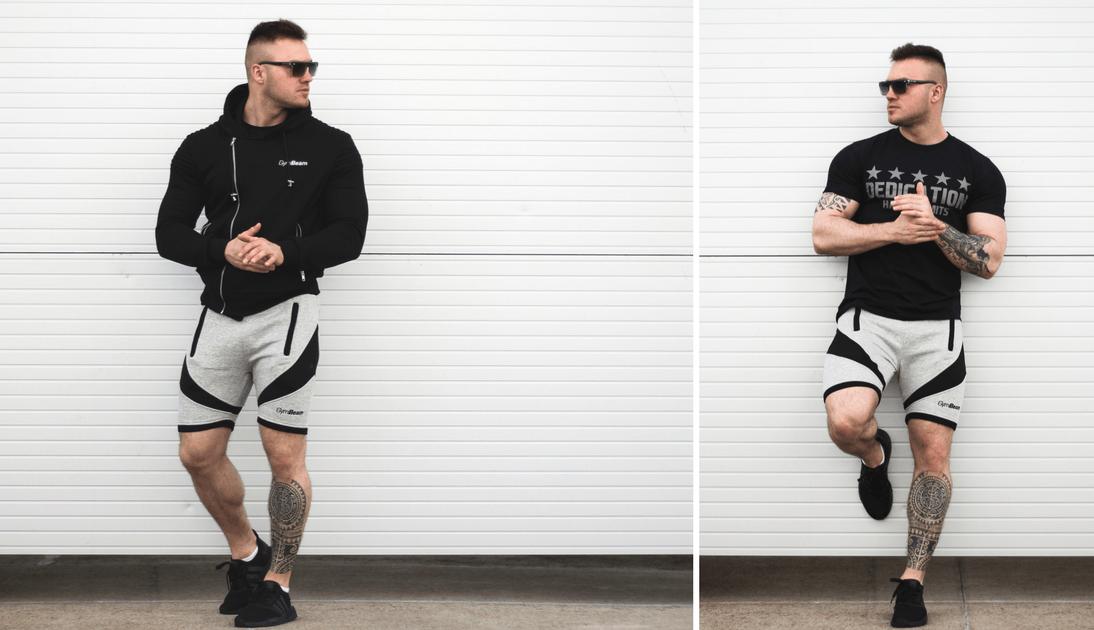 Štýlové šortky Flexin Light Grey gymbeam