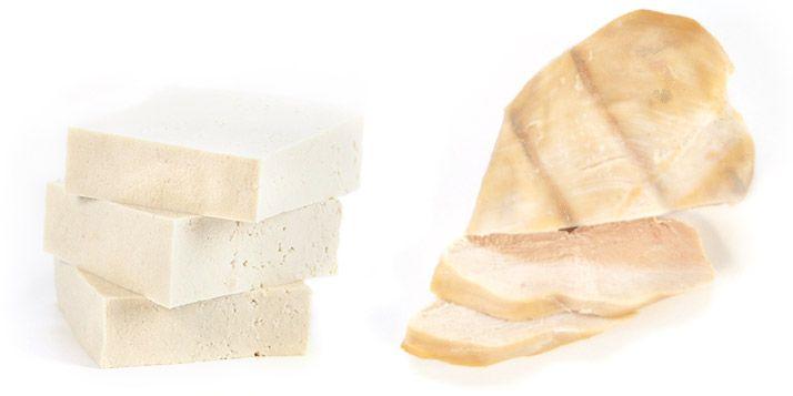 ako vyzerá 30 g bielkovin tofu
