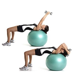 Tricepsové extenzie na fitlopte