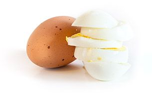 ako vyzerá 30 g bielkovin vajička