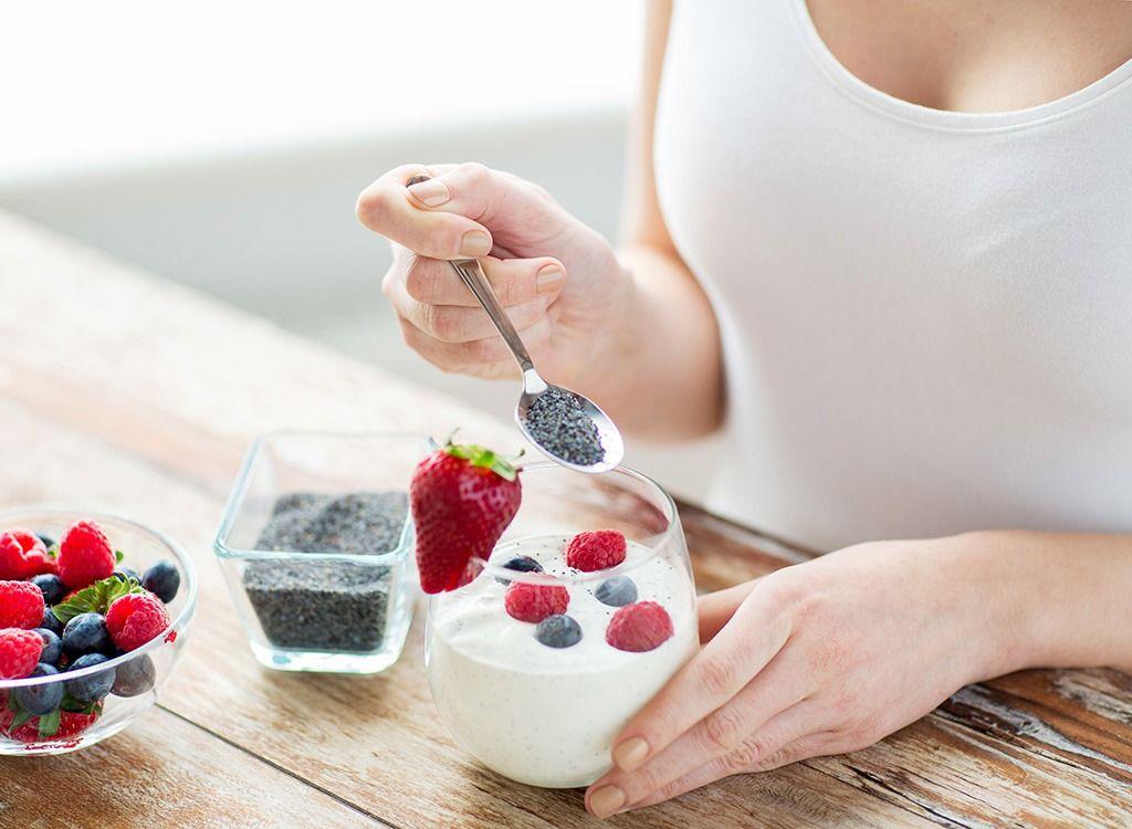 strava pri cvičení - chia semienka