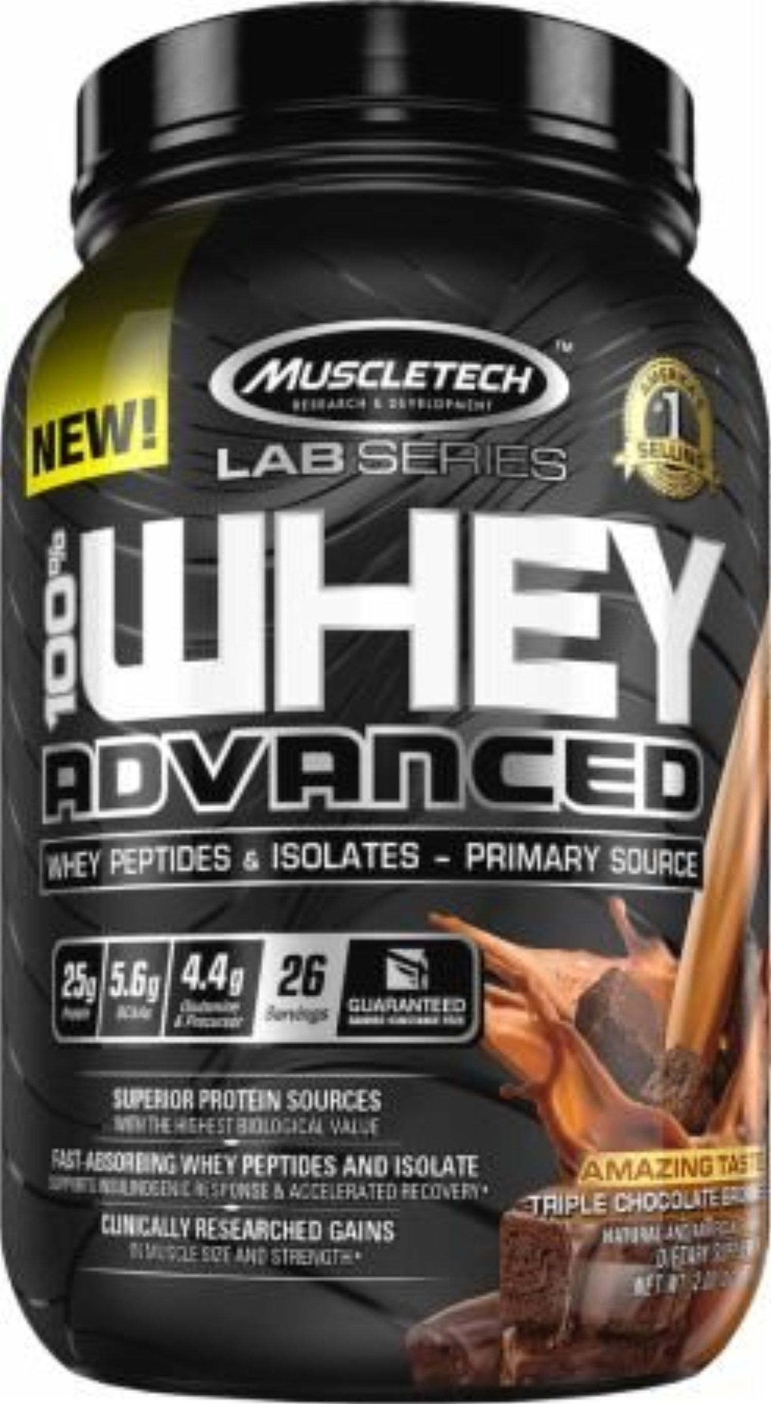 Muscletech 100 Whey Advanced 2270 g - delicious strawberry