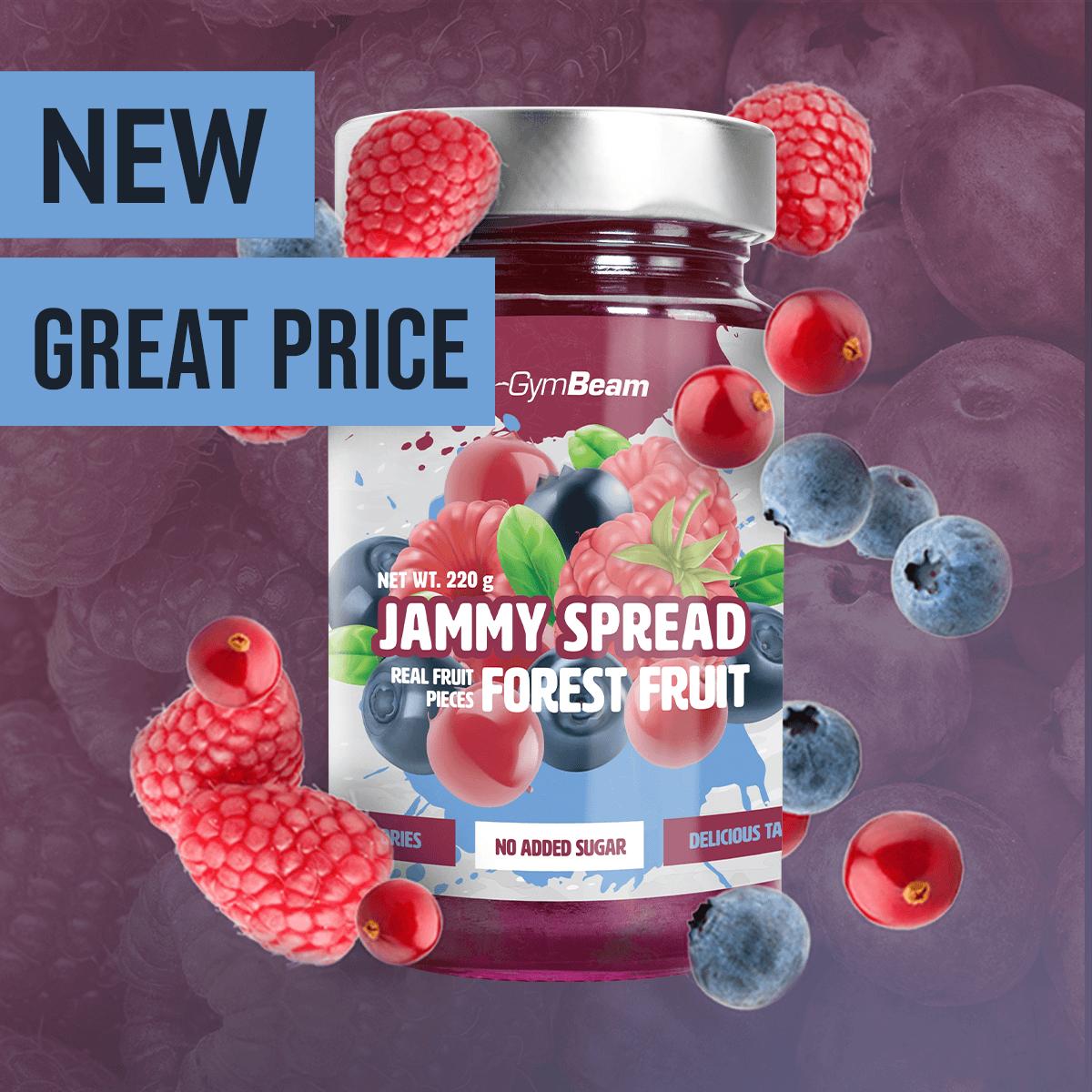 GymBeam Jammy Spread 220 g forest fruit