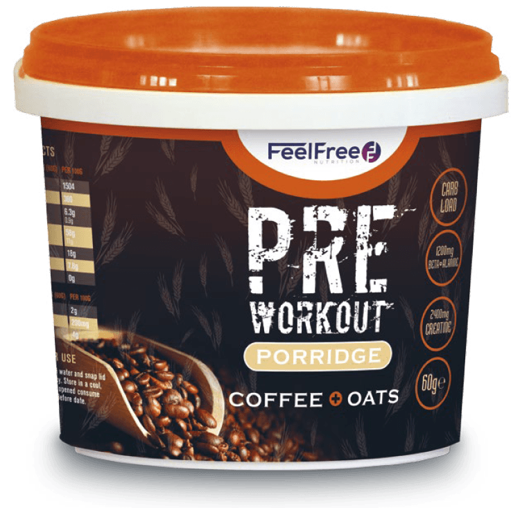 Feel Free Nutrition Porridge Pre-Workout 85 g - latte oats vanilla caramel