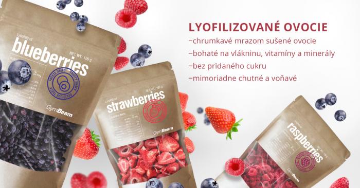 Lyofilizované jahody - GymBeam