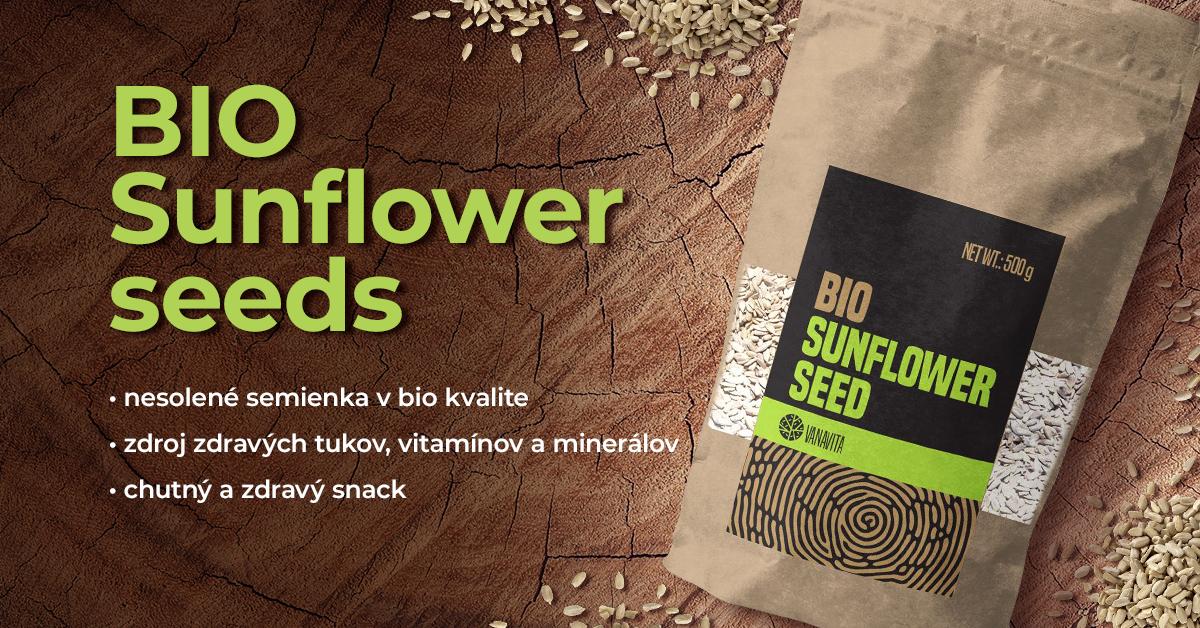 BIO Slnečnicové semienka - VanaVita