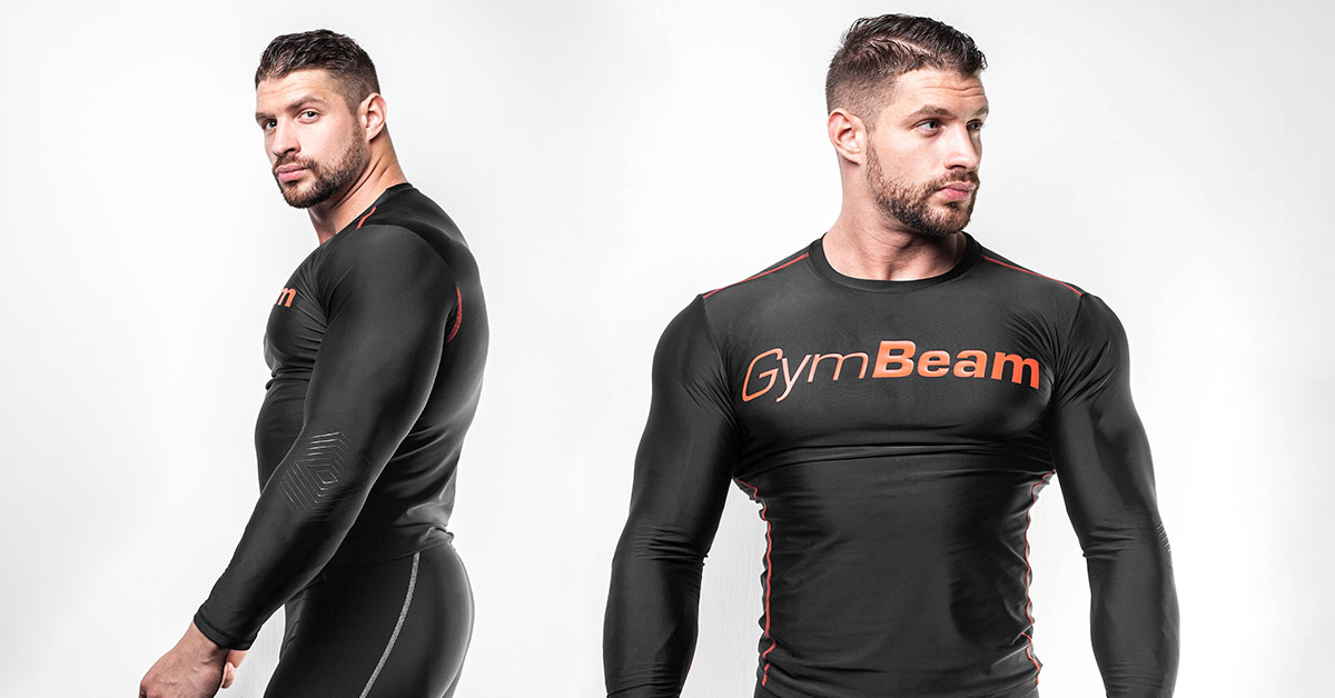 Kompresné tričko Black/Red - GymBeam