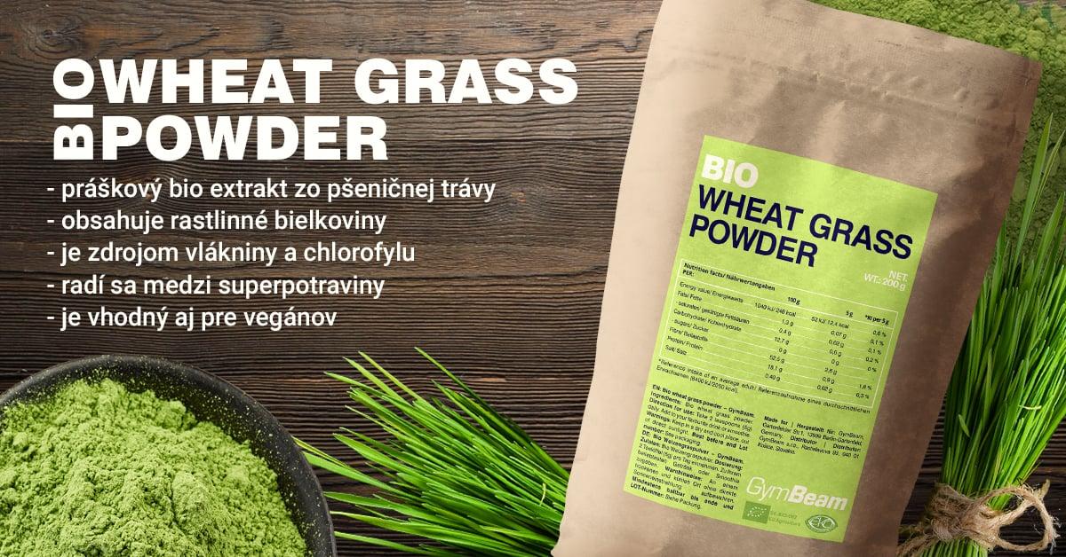 BIO Pšeničná tráva v prášku - GymBeam