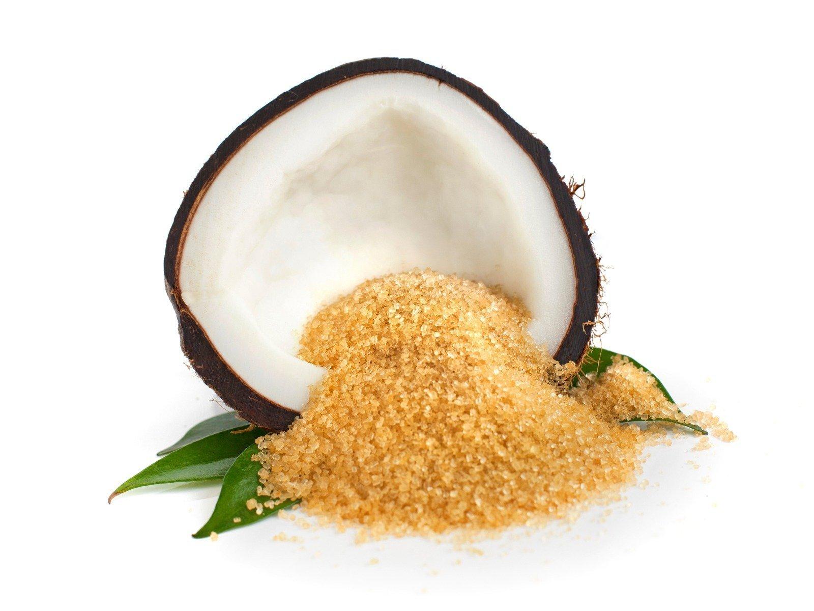 Bio Coconut Sugar - přírodní kokosový cukr v bio kvalitě, který má nízký glykemický index, a proto je ideální náhradou bílého cukru pro zdravé slazení