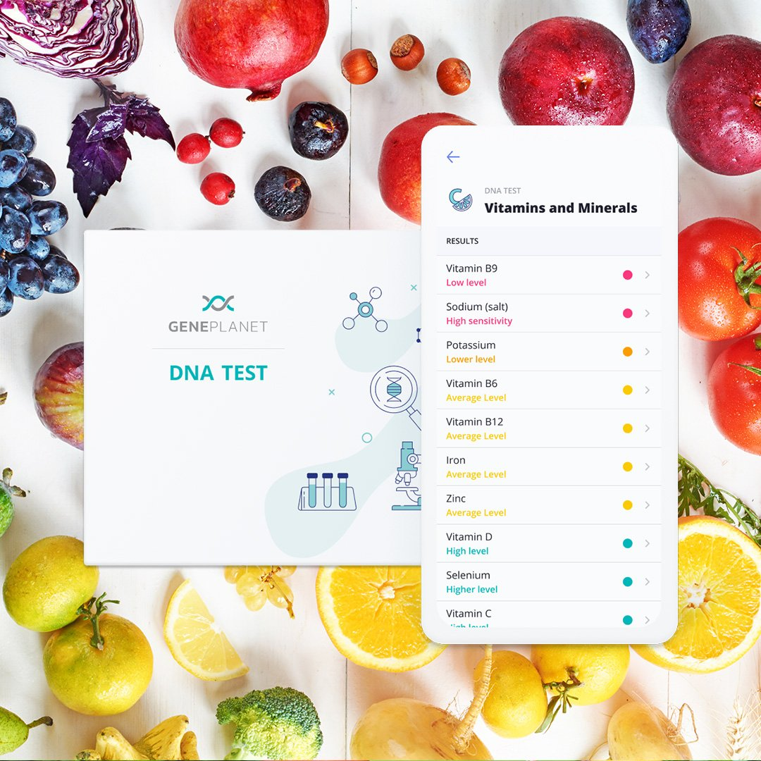 DNA Test Metabolism and Lifestyle + Vitamins and Minerals - GenePlanet