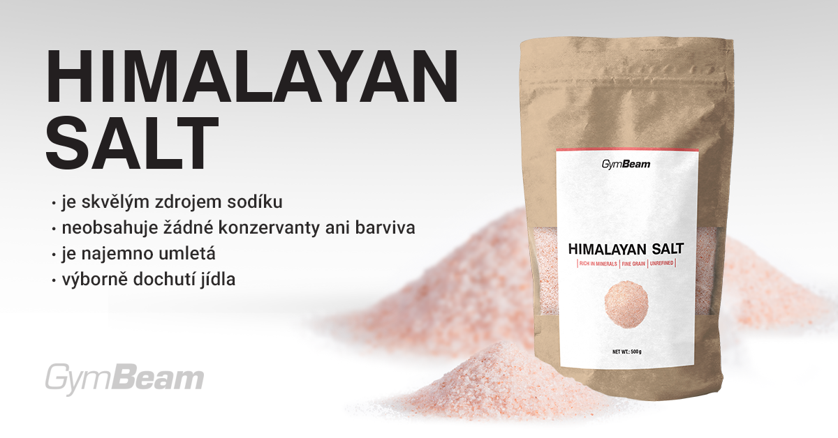 Růžová Himalájská sůl - jemná - GymBeam