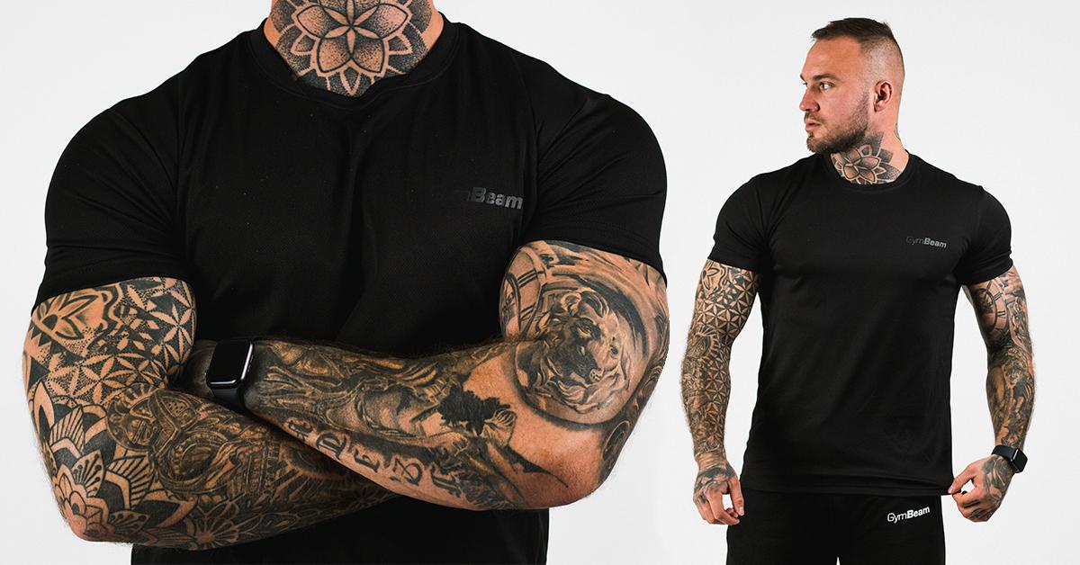 Tričko TRN Black - GymBeam