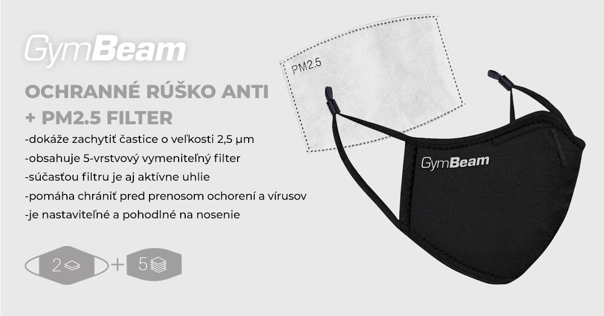 Ochranné rúško ANTI + PM2.5 filter - GymBeam