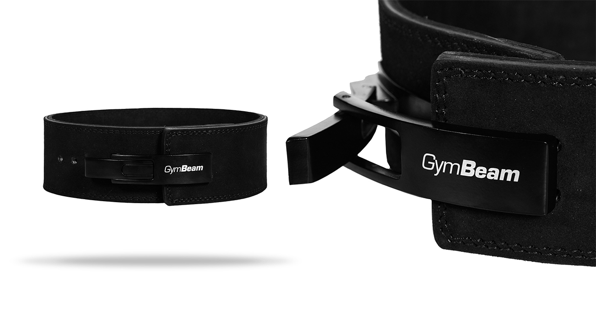 Fitness opasok LEVER black - GymBeam