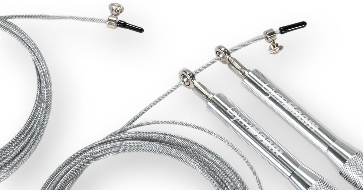 Švihadlo Metal Jumping Rope Silver - GymBeam