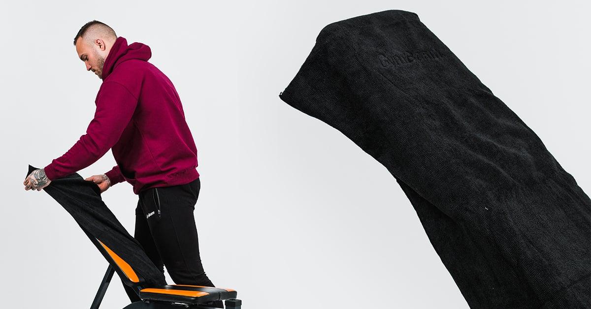 Športový uterák z mikrovlákna Large Black - GymBeam