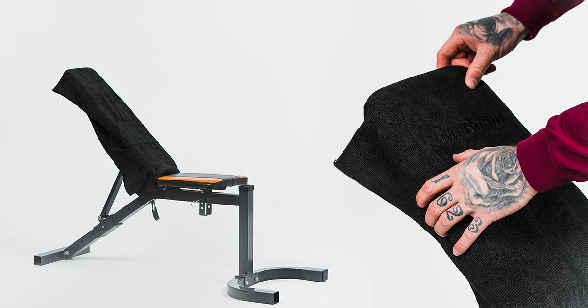 Športový uterák z mikrovlákna Medium Black - GymBeam