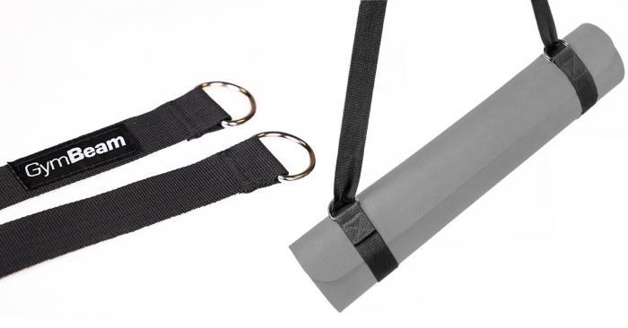 Popruh na podložku Yoga Mat Black - GymBeam