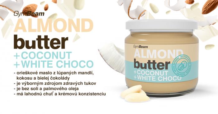 Vzorka Mandľové maslo s kokosom a bielou čokoládou
