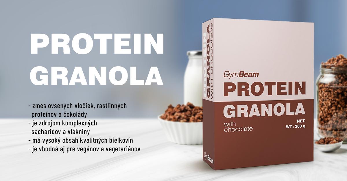 Proteínová granola s čokoládou - GymBeam