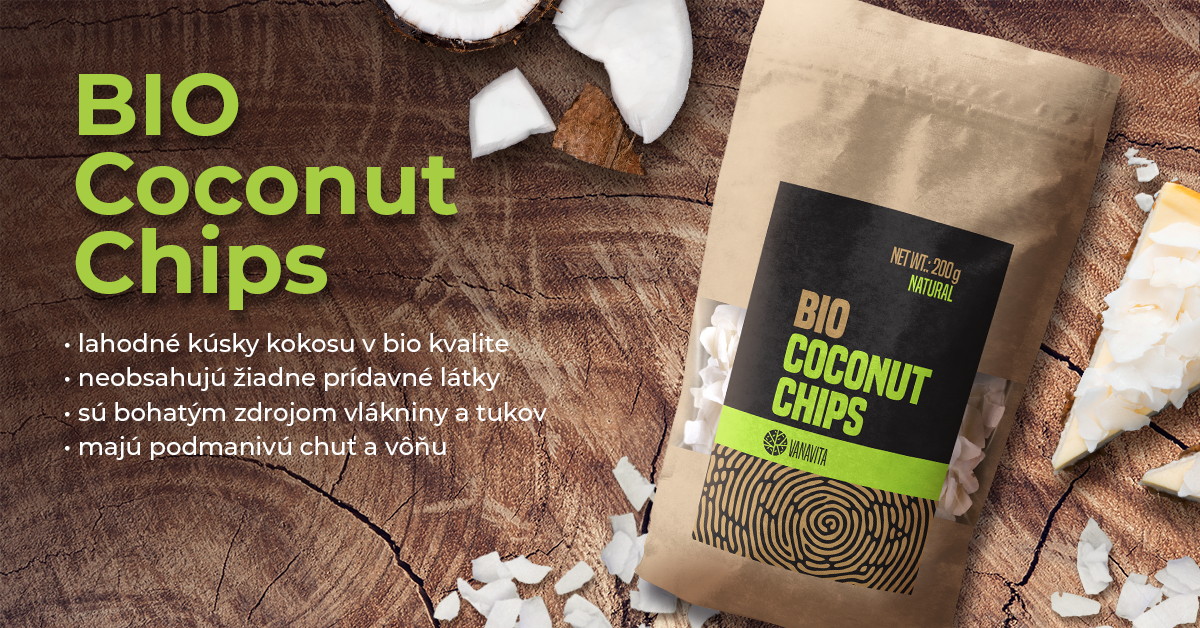 BIO Kokosové chipsy natural - VanaVita